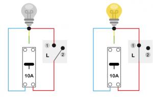 Schéma d'un interrupteur simple