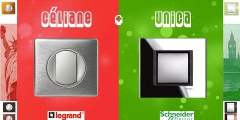 Comparatif Legrand céliane - Schneider Unica