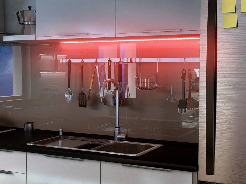 Ruban LED Paulmann dans une cuisine