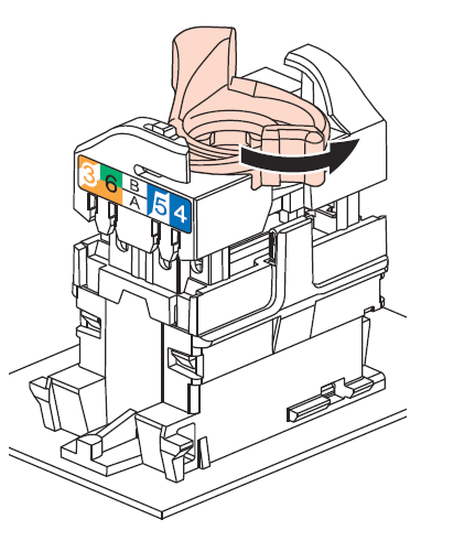Coffret VDI : Schéma de raccordement 1