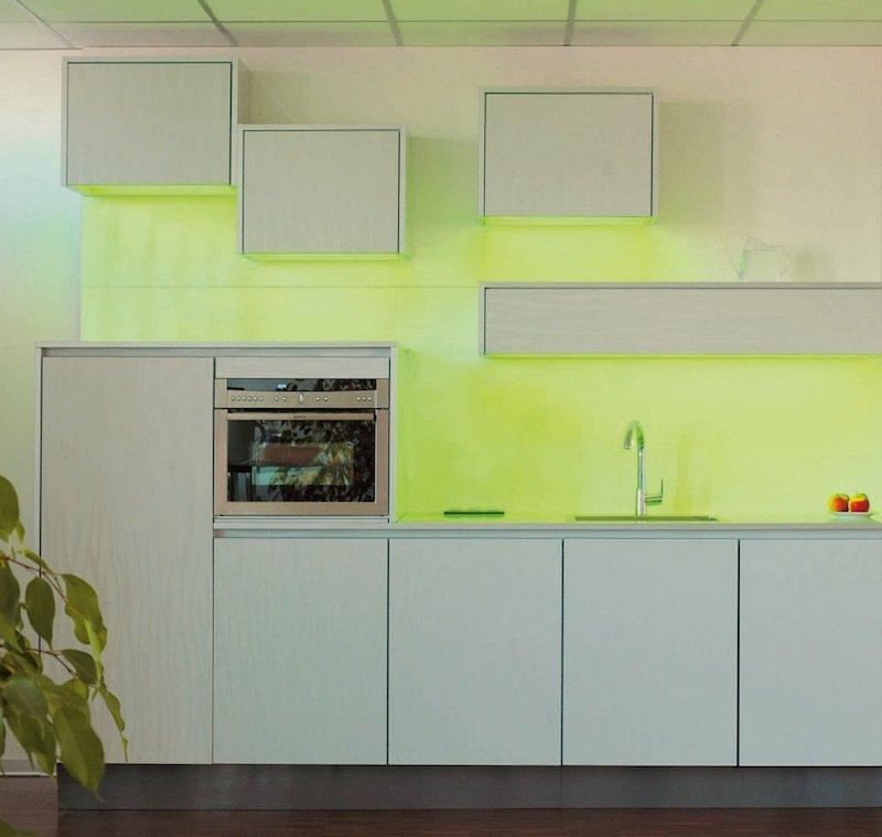 Ambiance lumineuse dans une cuisine