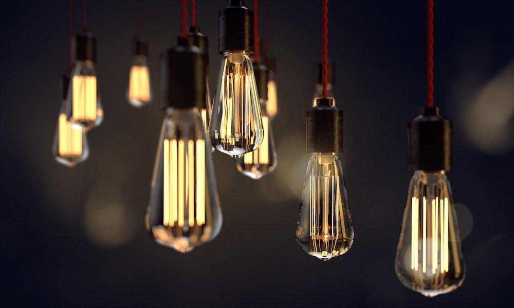 différentes ampoules vintage