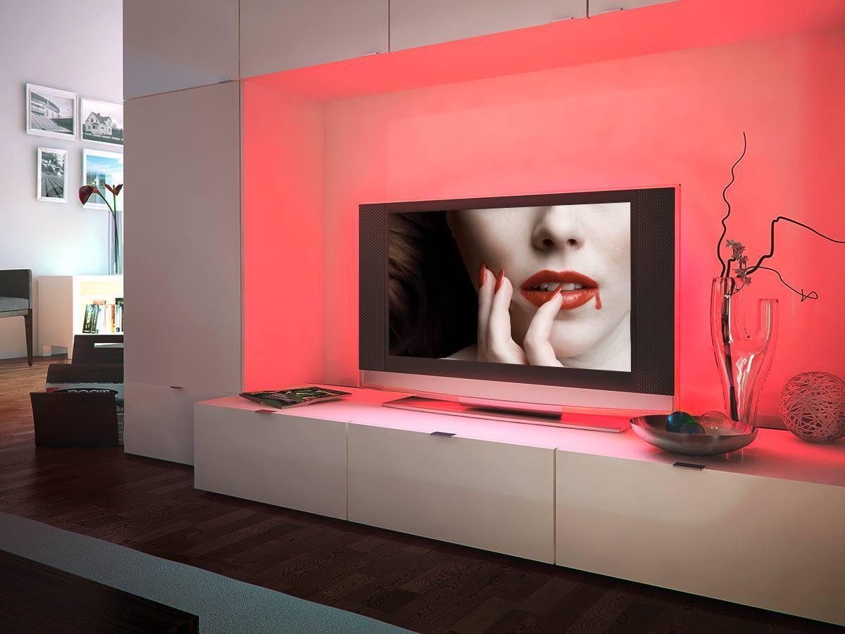 Eclairage décoratif d'un écran TV