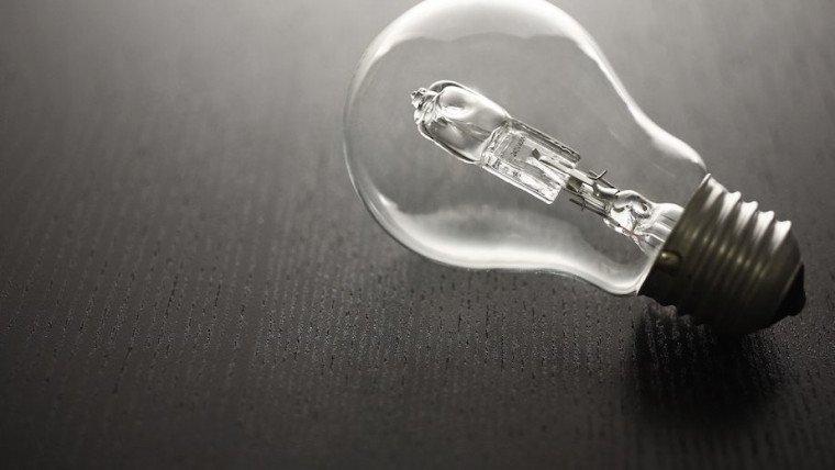 La fin de ampoule halogène
