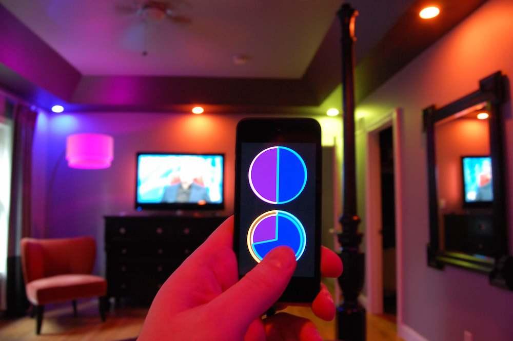 Les éclairages connectés Philips Hue se pilotent avec votre téléphone mobile.