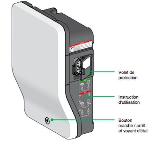 Schéma de la borne de recharge EVlink
