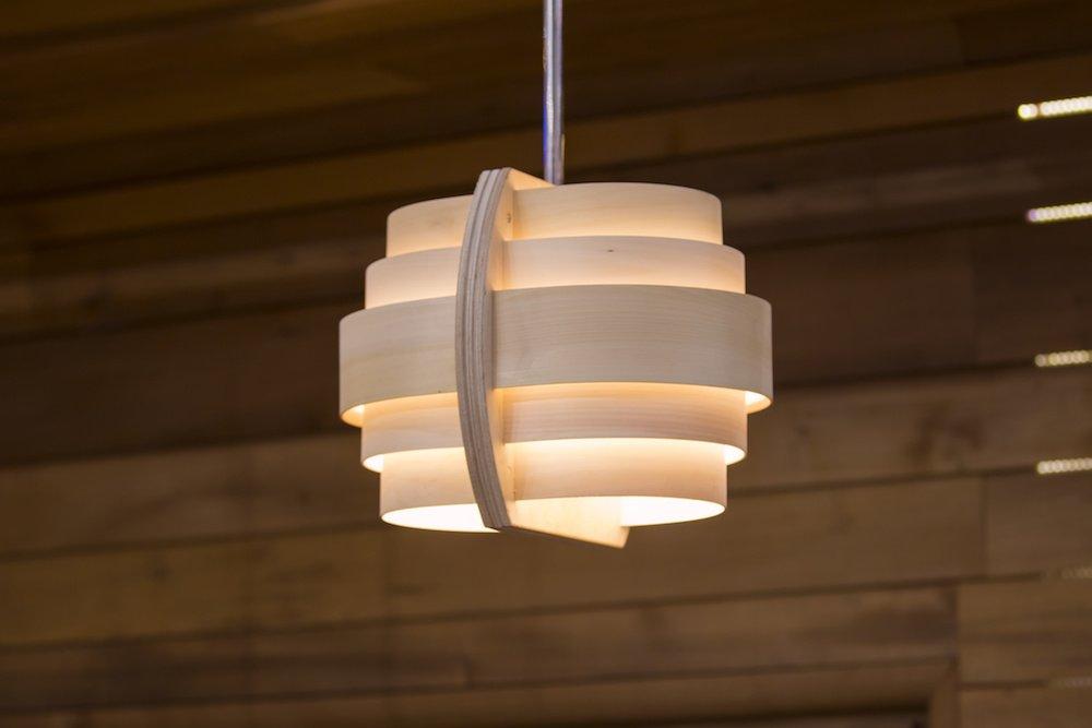 Luminaire en bois ou en papier