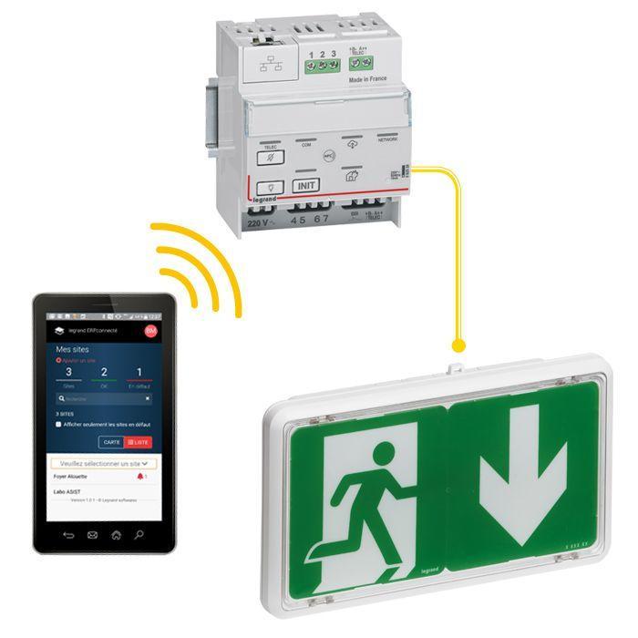 Nouveau BAES Legrand : éclairage de sécurité connecté