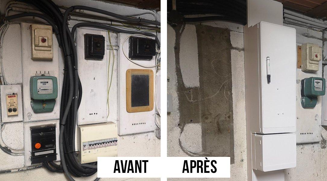 Rénovation d'un tableau électrique - Avant / Après