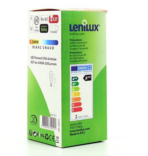 Emballage d'une lampe LED Lenilux