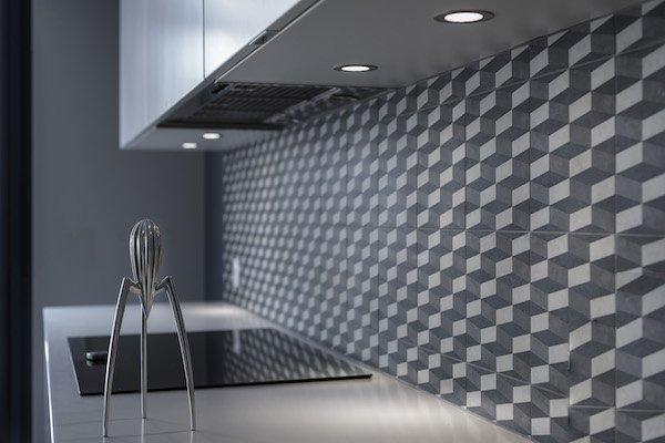 Spots LED dans une cuisine