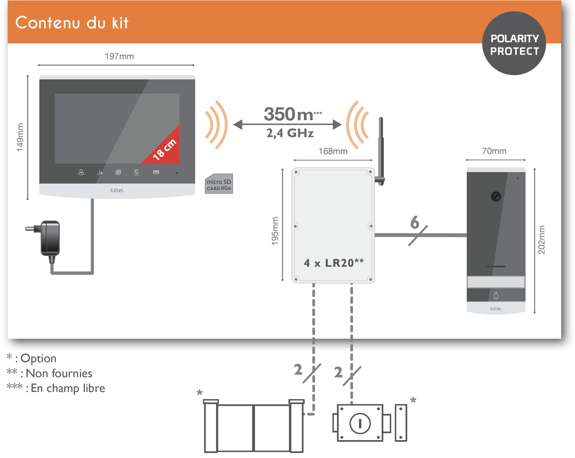 Extel Wave Visiophone Sans Fil Et Connecté à Votre Smartphone