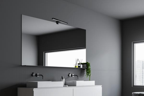 Applique Arlux pour salle de bain parma 5w/350lm/4000k/noir